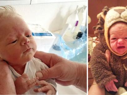 15 babyer som ble født som gretne gamle gubber