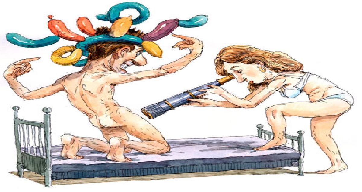 menn i kvinneklær skjev penis