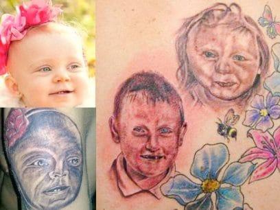 18 utrolig STYGGE portretter som garantert er laget av DRITA FULLE tatovører!