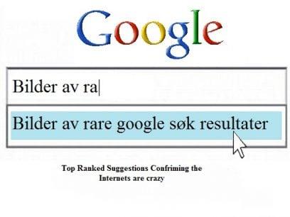 Bilder av de rareste og mest perverse Google-søk folk har gjort !