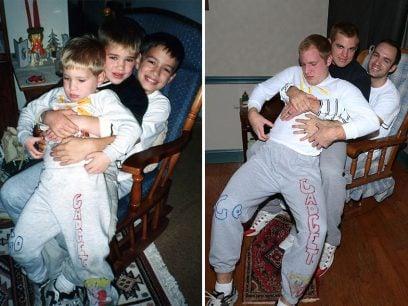 3 brødre gjenskaper bildene fra barndommen
