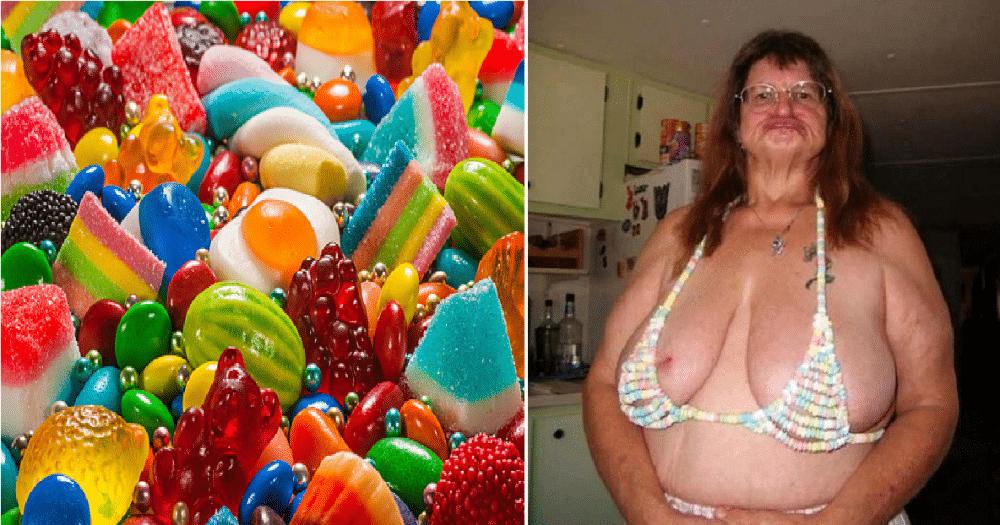 Gerd-Margrethe åpner godteributikk som lager SEXY undertøy av smågodt.