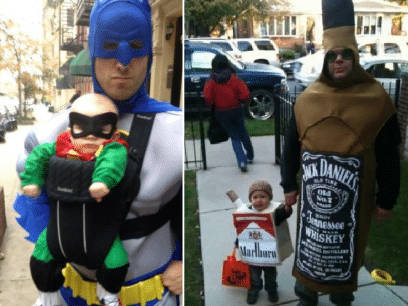 15 morsomme far og sønn Halloween-kostymer