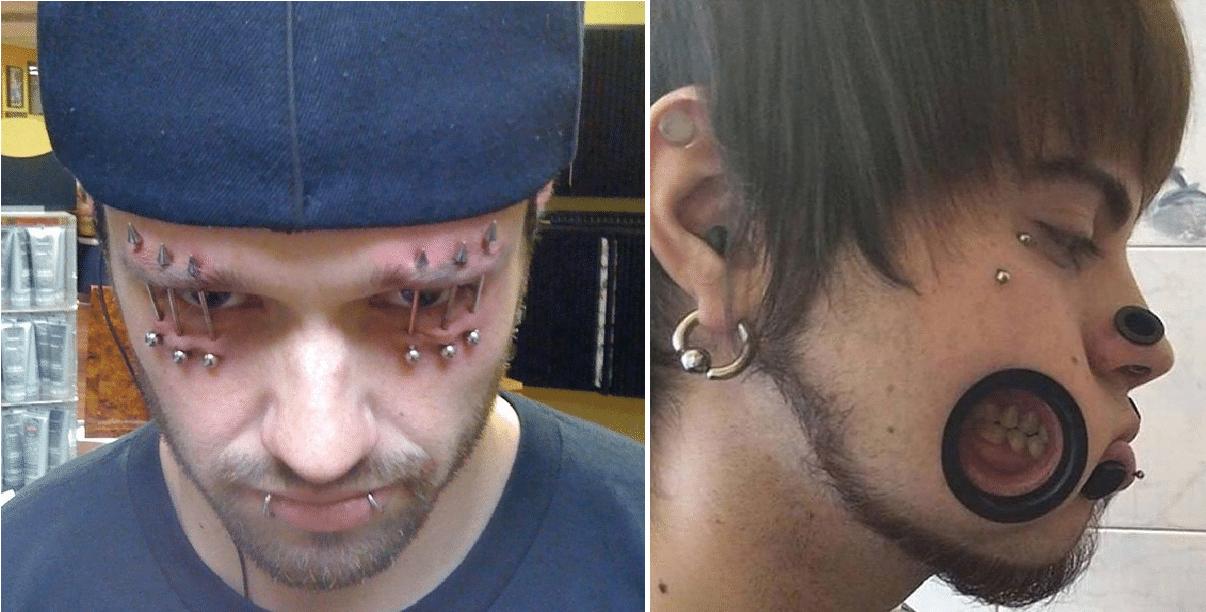 Folk som viser hvor kult det ser ut med MASSE piercinger