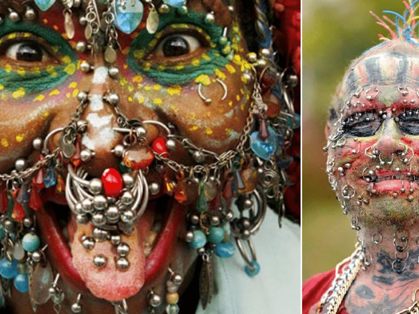 Noen av verdens mest ekstreme piercing-folk