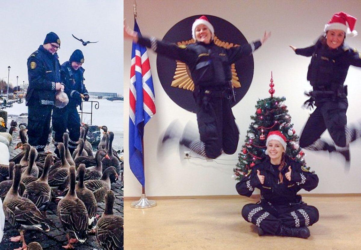 Politiet i Reykjavik fortsetter å være fantastiske på Instagram!
