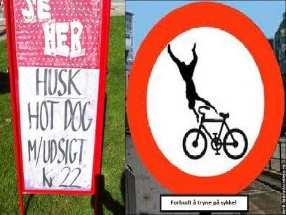 41 Hysterisk morsomme skilt fra hele Norge