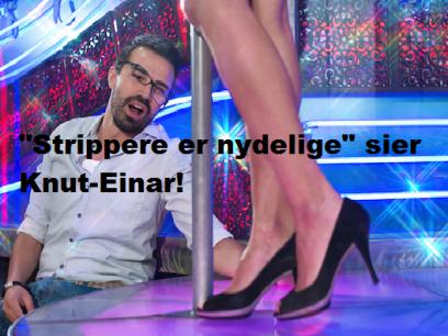 Knut-Einar bruker konas penger på strippeklubb.