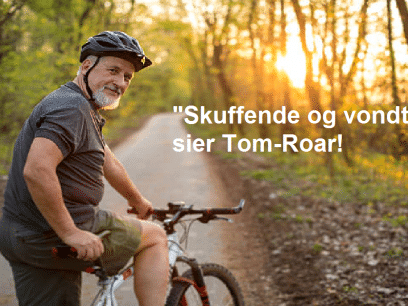 Tom-Roar (52 år) syklet nesten 6 mil, men fikk INGEN likes på Facebook?