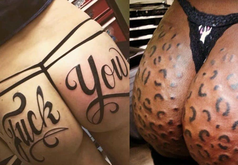 GRUSOMME rumpe-tatoveringer som viser hvor SYK verden er