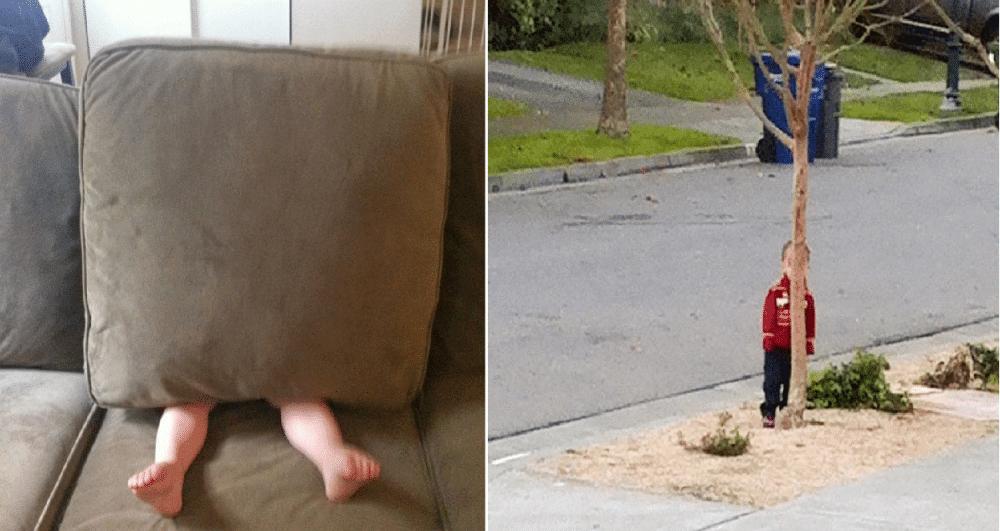 15 bevis på barn er VELDIG dårlige til å leke gjemsel