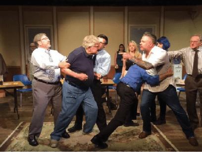 SISTE NYTT: Full slåsskamp da foreningen for menn med sinneproblemer avholdt julebord