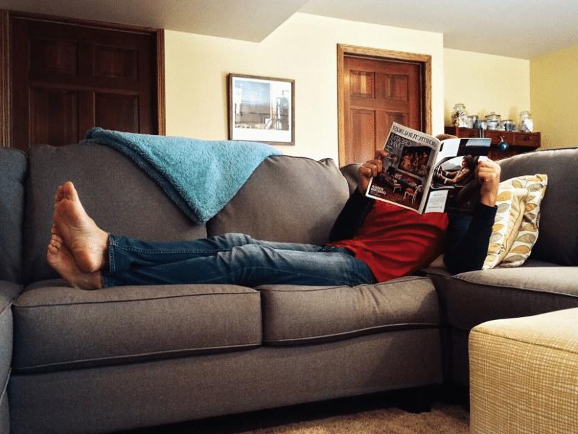 AKKURAT NÅ: Geir (45 år) later som han fortsatt er veldig forkjølet for å slippe og gjøre noe husarbeid