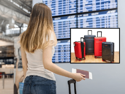 SISTE: Kvinne pakket 4 kofferter for en 2-dagers tur.